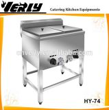 商業Standing Double 12L Deep Tank Gas Fryer (HY-74)
