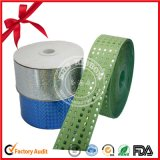 Green polyester Satin Tape Culry Ribbon roll for party