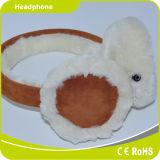 La subsistance de peluche avertissent protègent l'oreille dans l'écouteur de stéréo de jouet de dessin animé de l'hiver