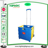 Paquete del cargador del programa inicial y carro de compras plegables del rodillo