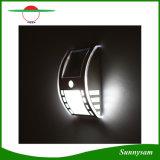 Im Freien weißes/warmes wasserdichtes an der Wand befestigtes Solarlicht der weiße Beleuchtung-Farben-Solarlampen-3PCS LED