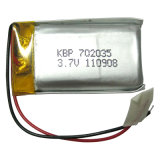 3.7V Rechargeable Li-Polymer Battery per Bluetooth Headset (900mAh)