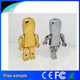 Movimentação fresca do flash do USB do robô do metal do presente (Jm158)