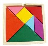 зигзаг #14*14cm Beech# цветастого Tangram интеллектуальный