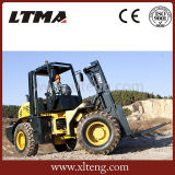 Ltma ATV Gabelstapler 10 Tonnen-raues Gelände-Dieselgabelstapler