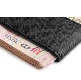 Le clip en cuir magnétique en gros d'argent de la Chine Tan conçoivent le clip en fonction du client d'argent