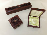 Caixa de jóia de madeira artística elegante examinada do fornecedor