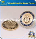 Pièce de monnaie de défi plaquée par or mol fait sur commande d'émail (LIFENG)