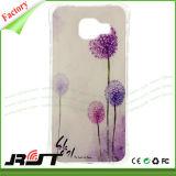 Caixas de borracha impressas costume do telefone do silicone macio TPU para Samsung S7