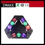 9PCS*10W indicatore luminoso capo mobile del ragno del triangolo del CREE RGBW 4in1