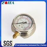 Petróleo da resistência de choque de 4 polegadas - manómetros enchidos da pressão