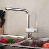Zeitgenössisches Kitchen Faucet mit Chrome Finish (Spray Pullout)