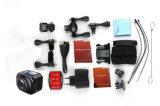 A fábrica o 12MP/360vr o mais atrasado Waterproof a câmera da ação dos esportes do esporte DV 1440p/30fps com graus de controle remoto da câmara de vídeo Ultra-Larga de Wireles da lente de WiFi Watech 220