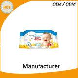 Non сплетенная ткань Wipe младенца 80PCS влажная