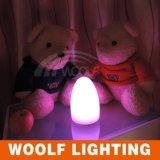 Lámpara de vector teledirigida del LED, luz del huevo de la noche, luz del jardín