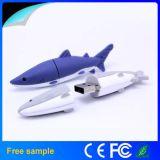 Disque bon marché du requin USB d'OEM, lecteur flash USB de PVC