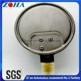 Calibre de pressão inferior interno de bronze da cápsula da conexão da caixa de aço inoxidável