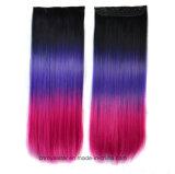 De vente de couleur de gradient extensions synthétiques droites chaudes de cheveu de perruque longtemps