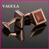 Boutons de manchette français L52503 d'Onyx de qualité de VAGULA