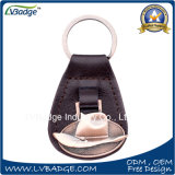 Corrente chave de couro do plutônio do metal relativo à promoção com anel