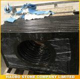 Parte superior preta da vaidade do granito de China Shanxi para o banheiro