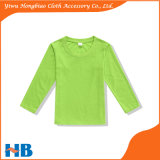 De gespecialiseerde Kleding van de Kinderen van de T-shirt van de Kleur van de Koker van Jonge geitjes Lange Zuivere