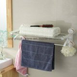 Steel di acciaio inossidabile Chromed Plated Towel Rack con Air Suction Cup Absorb
