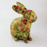 O banco de moeda encantador da economia da imagem do coelho do decalque cheio projeta