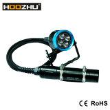 잠수부를 위해 방수 120m를 가진 최신 판매 Hoozhu Hu33 크리 사람 LED 최대 4000 루멘 급강하 플래쉬 등