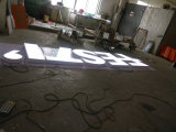 Carta de canal de acrílico fabricada acero de acrílico de la insignia LED de la marca de fábrica