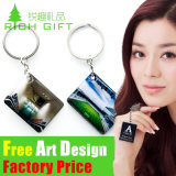 Design personalizado Decoration PVC/Rubber Keychain com Attachment