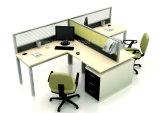 مكتب حديثة ألومنيوم حاجز مركز عمل لأنّ 2 أشخاص ([هف-ز031])