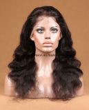 中国の人間の毛髪のかつらの波状の人間の毛髪のレースのかつら