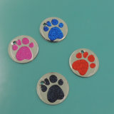 Sale barato Zinc Alloy Custom Glitter Mascota Etiquetas UK Hot Tag Pet ( W - 20 )