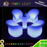 빛을내는 가구 플라스틱 LED 2 시트 소파