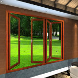 Porta de dobradura de alumínio do Bi- do projeto do poço da alta qualidade para a casa de campo (FT-D75)