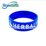 Vendita calda di promozione Wristband su ordinazione del silicone da 1 pollice con il marchio di stampa