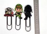 Alta qualità Plastic Promotional 3D Silicone Cartoon Book Clip (BMS-10019)