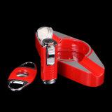 Лихтера резца Ashtray Lubinski костюм сигары высокомарочного красного установленный (ES-LI-008)