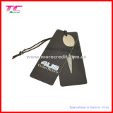 Étiquette du fabriquant faite sur commande de papier glacé pour l'habillement