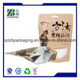 Wiederversiegelbarer mit Reißverschluss Fastfood- Beutel-Verpacken- der Lebensmittelplastikbeutel mit Reißverschluss