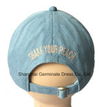Gorra de béisbol de la manera en tela del dril de algodón con el bordado plano (LY079)