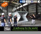 Casa plegable fácil prefabricada del envase de Wellcamp