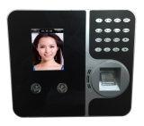 Sistema biométrico do comparecimento do tempo do controle de acesso da máquina de reconhecimento da face