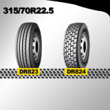 Chinês Qualificado 315 / 70r22.5 Novo pneu baratos pneus de borracha natural feitos na China