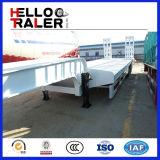 60 de tonne de la charge utile 3 de remorque à plat inférieure lourde d'essieu de bâti de camion remorque inférieure semi