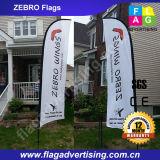 Benutzerdefinierte im freien Polyester-Feder-Strand-Fahne mit Fiberglas Pole