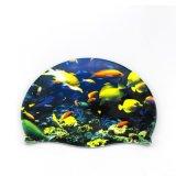 魚、珊瑚、海洋動物のデジタル印刷の多彩な水泳帽