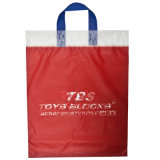 2015 laço Handle Polybag com Customized Logo e Design, Plastic Shopping Bag, Promotional Bag (HF-508)