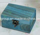 Cassa di legno portatile dei monili di rivestimento brillante di lusso